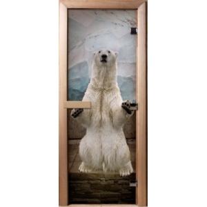 """Дверь с фотопечатью """"Белый медведь"""" 1900*700*8 мм"""