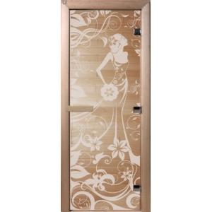 """Дверь бронза """"Девушка в цветах"""" 1900*700*8 мм"""